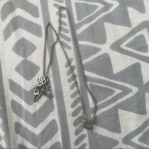 Silver and grey Kendra Scott necklace